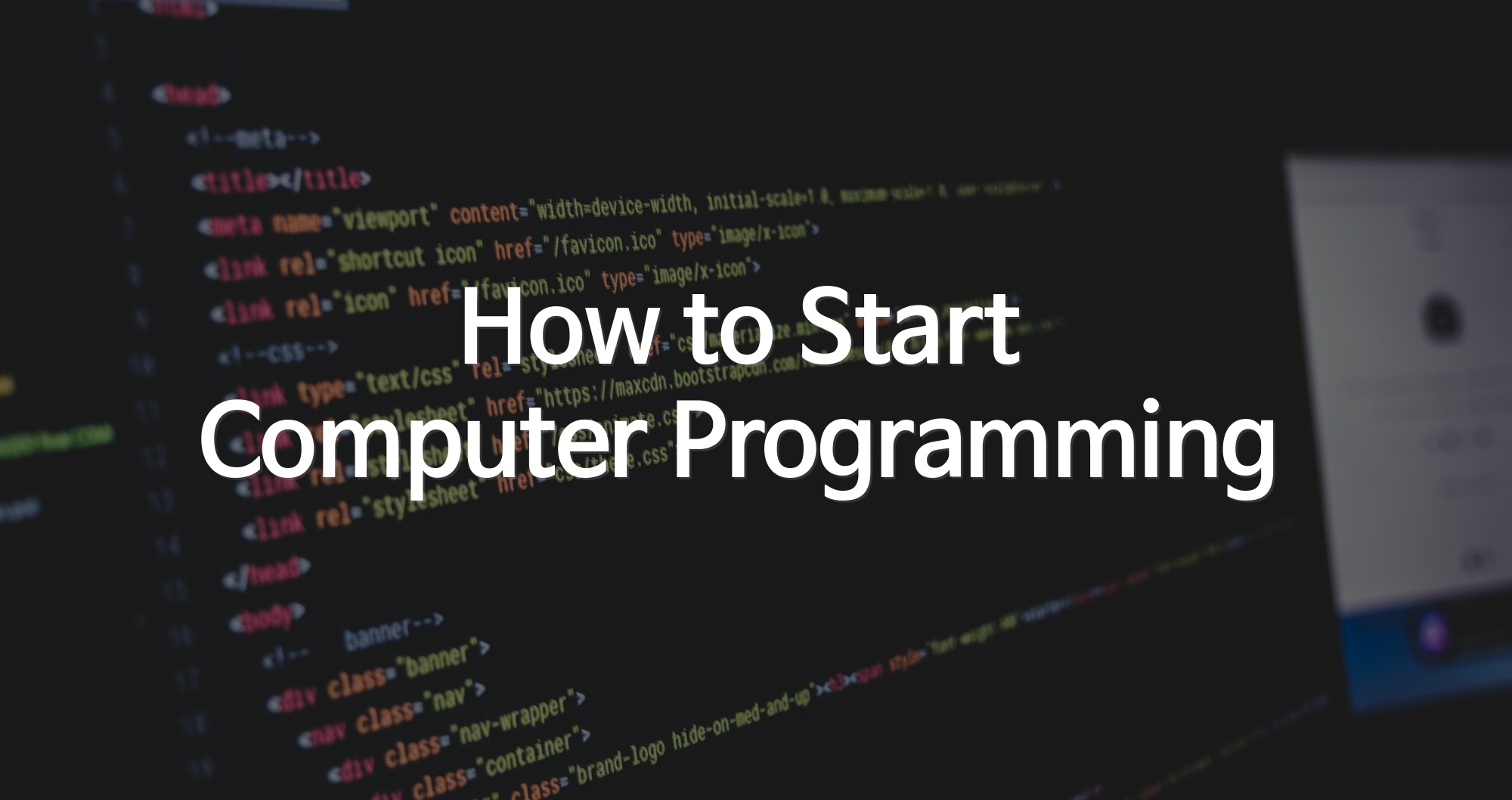 Your first computer programming